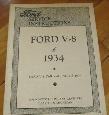 Advertisement Ebay Ford V 8 Of 1934 Service Instructions Polyprint Reprinted Service Bulletins In 2020 Ford Motor Company Ford Instruction