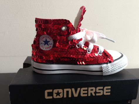 648c61a2118f Sequined high-top converse. Available in toddler and childrens sizes.  Available in lite pink