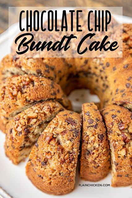 Chocolate Chip Bundt Cake In 2020 Chocolate Chip Bundt Cake Chocolate Chip Pound Cake Desserts With Chocolate Chips
