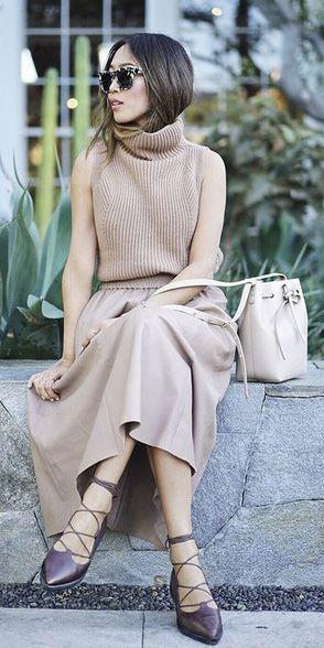 Sleeveless With a Feminine Skirt
