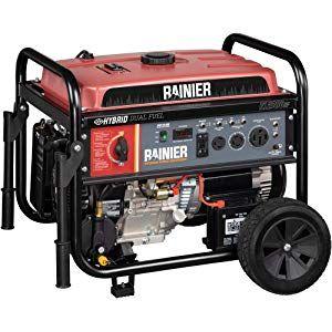 Rainier R12000df Dual Fuel Gas And Propane Portable Generator With Electric Start 12000 Peak Wat Portable Generator Best Portable Generator Generator House