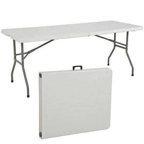 cosco office centerfold folding table white 8 foot portable plastic rh pinterest com au