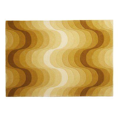 Verpan Abstract Handmade Tufted Wool Yellow Area Rug Yellow Area Rugs Area Rugs Rug Shapes