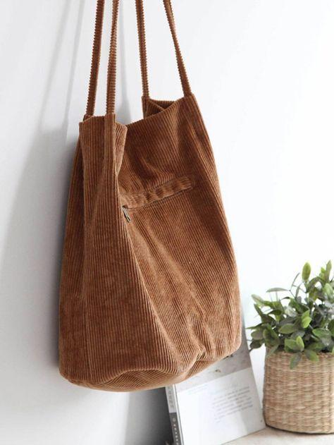 Korean Bags, Diy Tote Bag, Creation Couture, Fabric Bags, Cute Bags, Cotton Bag, Zipper Bags, Handmade Bags, Diy Clothes