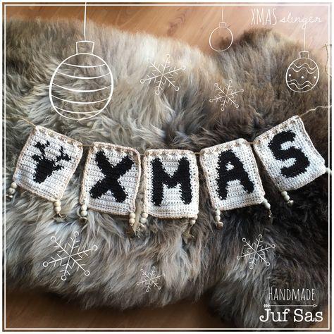 feestdagen Gehaakte XMAS slinger handmade...