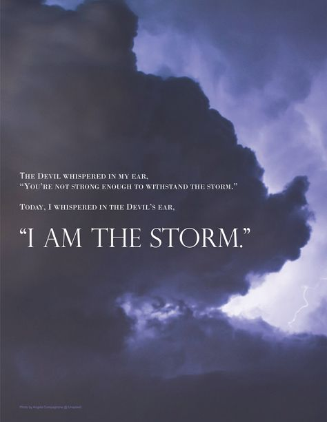 I Am the Storm Printable | Etsy