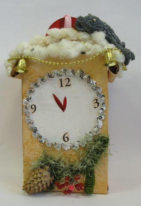 Как сделать поделку часы на новый год фото 128