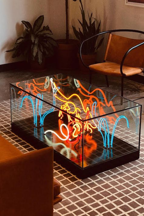 Let there be Neon Home Interior Design, Interior And Exterior, Interior Decorating, Room Inspiration, Interior Inspiration, Bühnen Design, Life Design, Creative Design, Cool Furniture