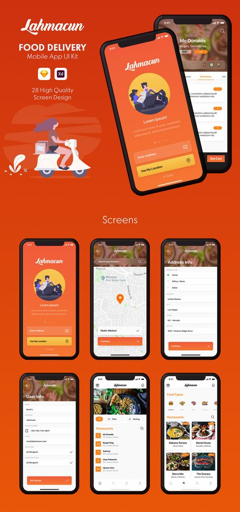 Lahmacun - Food Delivery Mobile App UI Kit