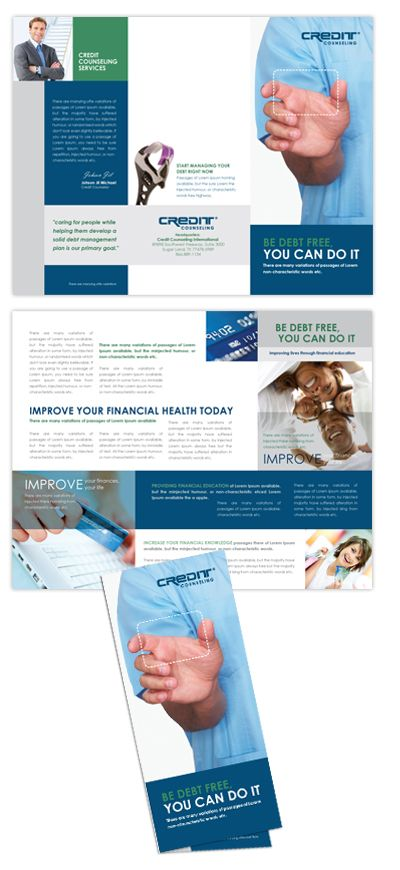 Adolescent Counseling  Mental Health Tri Fold Brochure  Design