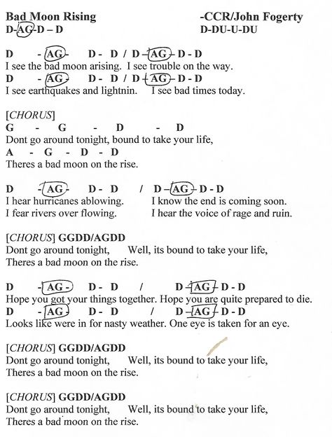 American Pie Don Mclean Page 2 Of 2 Guitar Chord Chart Http