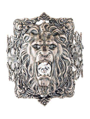 e74750ae11f Crystal Lion Head Bracelet | Jewelry I Luv | Lion, Crystals, Bracelets