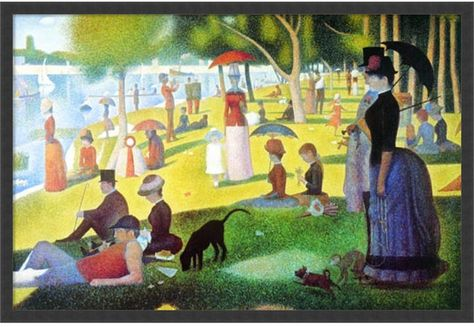 Amanti Art Sunday Afternoon On The Island Of La Grande Jatte, 1884-1886 Framed Art Print