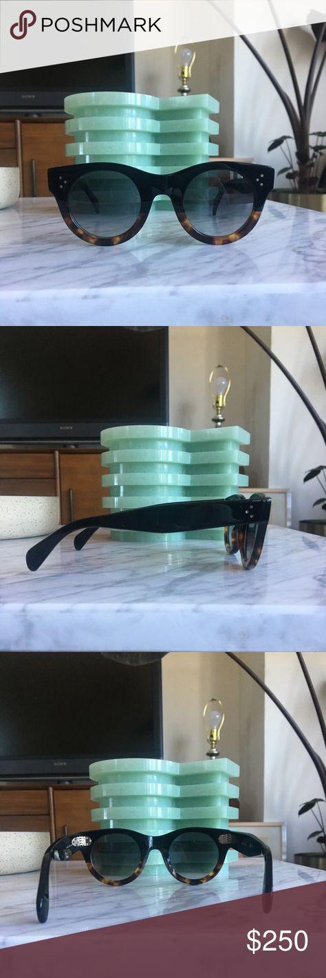 1a1697e1ded8a Céline 41424 S Alia Sunglasses-Black Tortoise Brwn Céline 41424 S Alia  Sunglasses