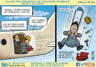 Faro Humor gráfico: 16.4.2020 Tema: Confinamiento. Los trabajadores no...    Tema, Humor grafico, Humor