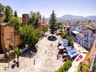 ساحة وطاء الحمام في شفشاون المغرب Canal Structures