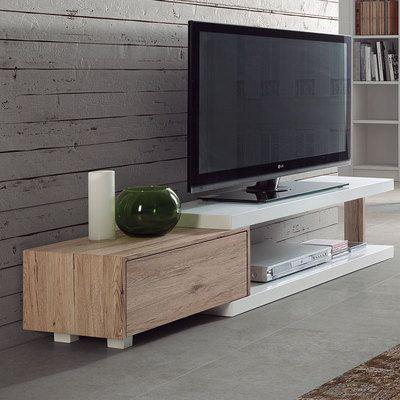 Optez Pour Un Style Unique Et Deco Avec Un Meuble Tv Scandinave Pour Votre Salon Petits Prix Et Grande Meuble Blanc Et Bois Mobilier De Salon Meuble Tv Blanc