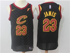 competitive price be932 7f265 Cleveland Cavaliers #23 LeBron James Black Swingman Jersey ...