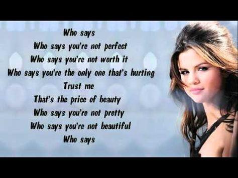 You Lyrics Beautiful Who Re Says Not