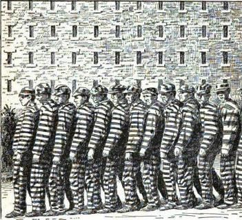 Prisoners Uniform Black And White Stripes Zebras