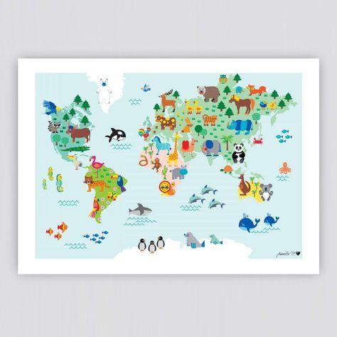 Weltkarte Poster In 2020 Weltkarte Poster Weltkarte Fur Kinder