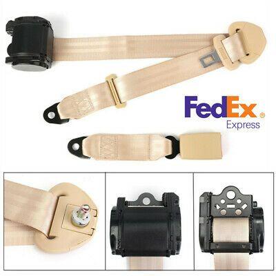 880mm-1370mm Adjustable Beige 3 Point Seat Belt Lap /& Diagonal Belt Polyester