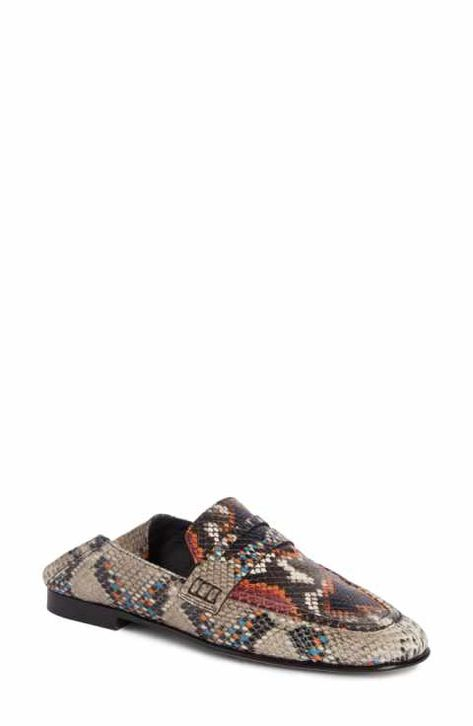2d3b9a6407e Isabel Marant Fezzy Snakeskin Embossed Convertible Loafer (Women ...