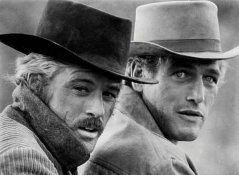 When men were men...Great film! Paul Newman famous for his gorgeous blue eyes but most importantly his generous charity work. Married Joanne Woodward. Died of lung cancer aged 83 in 2008. Robert Redford is aged 76.