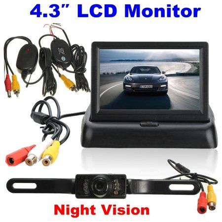 "4.3/"" TFT LCD Car Rearview Parking Monitor+Wireless Night vision Reverse Camera"