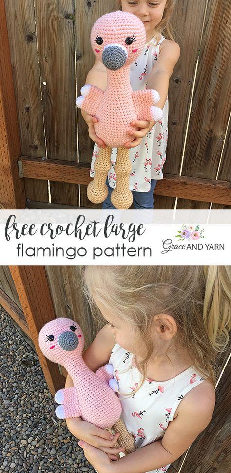 Free Crochet Flamingo Pattern
