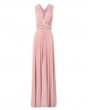 549d9bc2c96ddf Vestido Festa Longo Rodado Várias Formas de Amarrar Madrinha Formatura - Infinity  Dress (cor Nude)