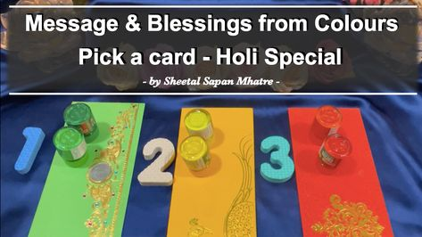 "Holi Special Reading is out now! Checkout what blessings are coming your way.😍 ""🎊 Holi Special 🎨 Blessings from colours 🙏🏼 Aura colours & Colour therapy - Pick a card Timeless"" #SheetalSapanMhatre #MessageForYou #Holi #Holi2021 #Blessings #Message #FestivalOfColours #FestivalsOfIndia #HolikaDahan #HappyHoli #HappyHoli2021 #Psychic #TarotGuidance #SpiritualRetreat #TrustedTarot #SpiritualAwakening #TarotReader #TarotCardReader #TarotReading #TarotCommunity #AngelCardReader #AngelReading"