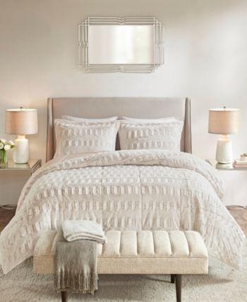 Madison Park Gia Full Queen 3 Pc Back Print Long Fur Comforter