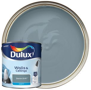 Dulux Matt Emulsion Paint Denim Drift 2 5l Wickes Co Uk Dulux Dulux Blue Dulux Denim Drift