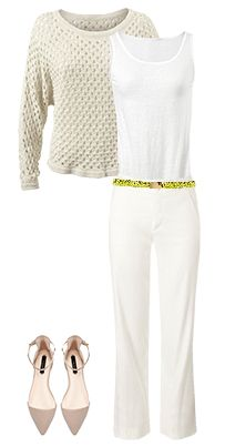 #CAbi - The Everly Pants are relaxed, yet dressy! These linen pants are perfect for the spring and summer seasons. Click on the image to see all the pieces in this outfit and more outfit ideas. #springfashion #OOTD