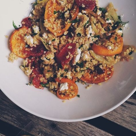 Warm Citrus Millet Salad from @Crystal Chen