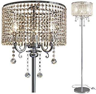 Amazon Com Crystal Floor Lamps Lamps Shades Tools Home