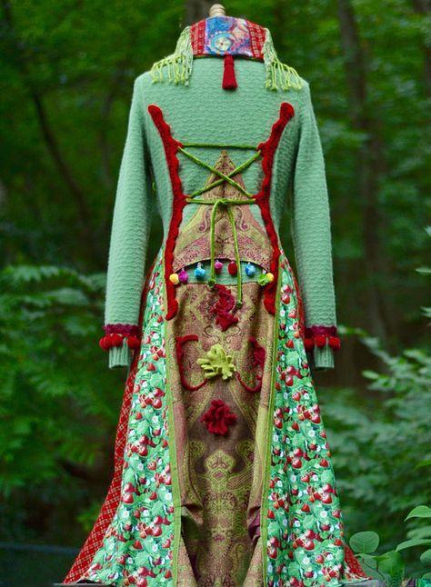 Fulled wool vest Exclusive handmade clothing Plus size Wearable art Beautiful Boho Dress Trendy warm wool vest womens festival clothing