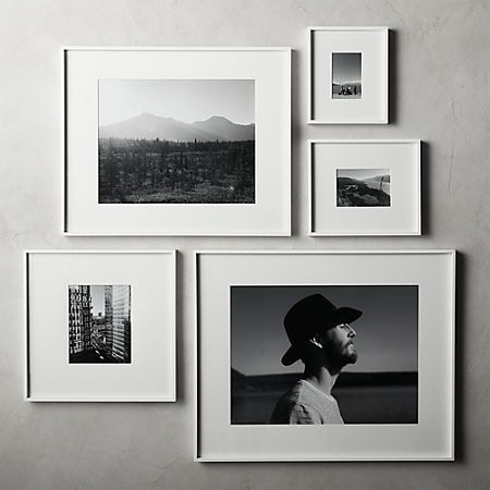 Gallery White Frame with White Mat 4x6