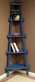 Corner Ladder Shelf- but in white.  would like it wider