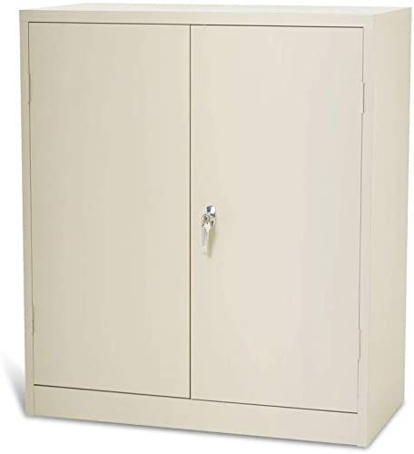 New Steel Storage Cabinet Lockable Metal Storage Cabinets With Doors And 2 Adjustable Shelves S In 2020 Metal Storage Cabinets Storage Cabinets Steel Storage Cabinets