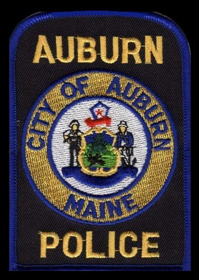 Us State Of Maine City Of Auburn Police Department Patch Police Badge Police Police Patches