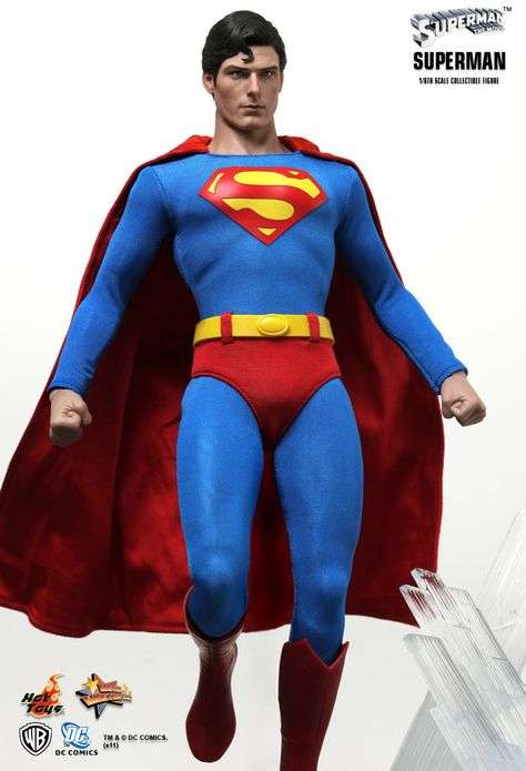 """DC Comics Christopher Reeves Superman Custom Head Cast 6/"""" to 7/"""" Scale Figures"""