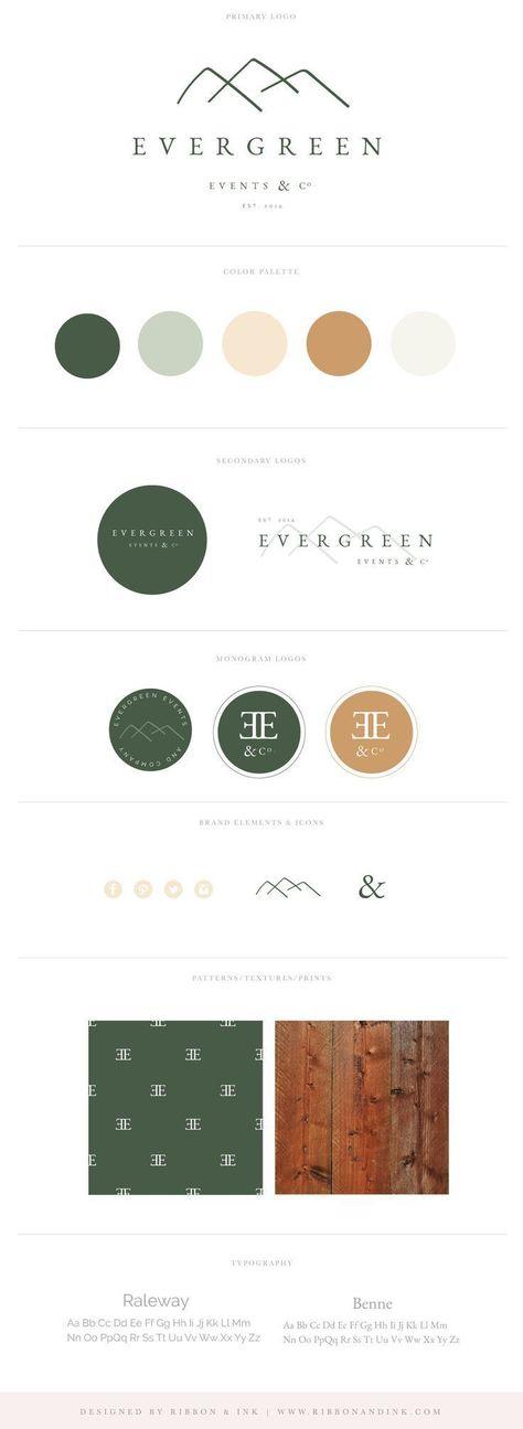 Semi Custom Brand Kit for Creatives | Green, Organic, Wood