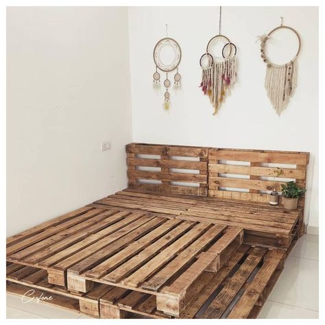Cute Room Ideas, Cute Room Decor, Teen Room Decor, Room Ideas Bedroom, Bohemian Bedroom Decor, Bedroom Bed, Cute Bedroom Ideas For Teens, Pallet Ideas For Bedroom, Western Bedroom Decor