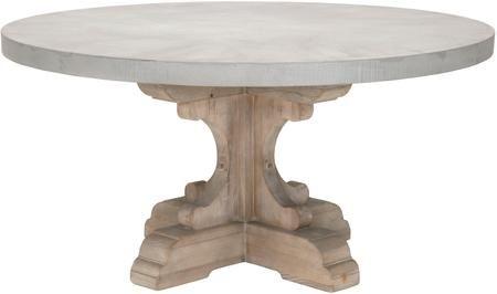 Bella Antique Collection 80768con 60 Bastille Dining Table With Round Shape Concretetop Single In 2020 Concrete