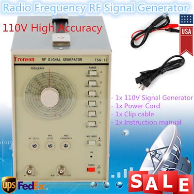 Sponsored Ebay 110v Radio Frequency Signal Generator Rf Am Tsg