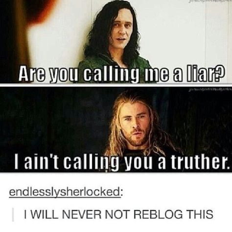 Haha. Loki and Thor quote Drake and Josh.