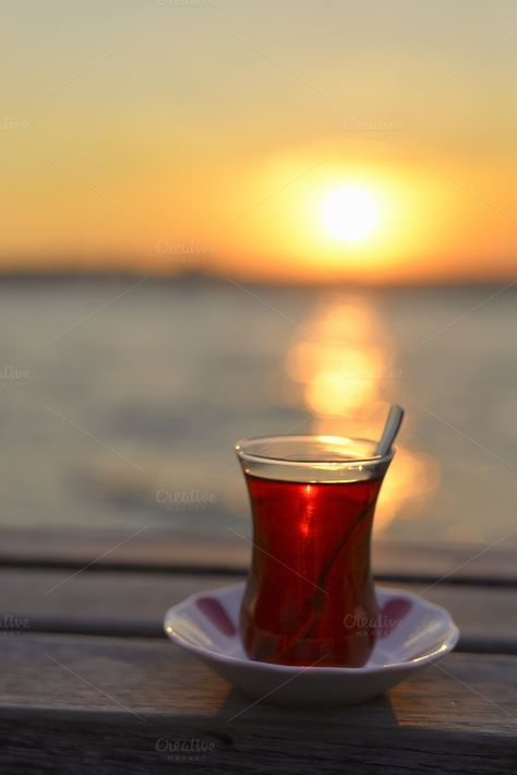 Sunset and Tea in Istanbul by jcfmorata - Photography on Creative Market