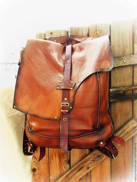 Кожаный рюкзак Рыжий. Ручная работа – купить в интернет-магазине на Ярмарке  Мастеров с доставкой dc887eb5b1d